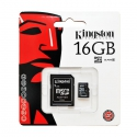 Kingston MicroSDHC 16GB Class10 с SD адаптером