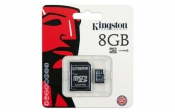 Kingston MicroSDHC 8GBClass4 С SD адаптером