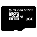Silicon Power MicroSDHC 8GB Class10 без адаптера