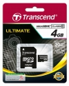 Transcend MicroSD 4Gb Class 10+SD адаптер