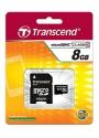 Transcend MicroSD 8Gb Class 4+SD адаптер