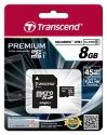 Transcend MicroSD 8Gb Class 10 UHS-I +SD адаптер