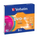 Verbatim DVD-R Colour slim 5