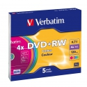 Verbatim DVD RW Colour slim 5