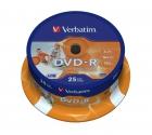 Verbatim DVD-R Wide Inkjet Printable ID Brand cake 25