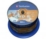 Verbatim DVD-R Wide Inkjet Printable ID Brand cake 50