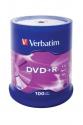 Verbatim DVD+R Matt Silver cake 100
