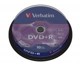 Verbatim DVD+R Matt Silver cake 10