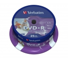 Verbatim DVD+R Wide Inkjet Printable ID Branded cake 25