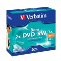 Verbatim mini DVD-RW 8cm  5  Pack Jewel Case