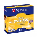 Verbatim mini DVD+RW 8cm  5  Pack Jewel Case